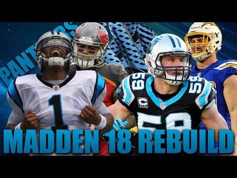 SuperCam Newton 2x MVP! Rebuilding the Carolina Panthers!| Madden 18 Franchise!