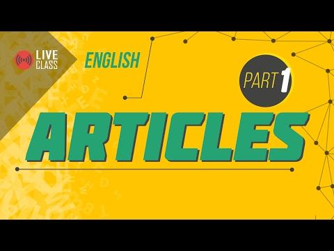 English : ARTICLE Part 1 | Ayman Sadiq [SSC | HSC | Admission]