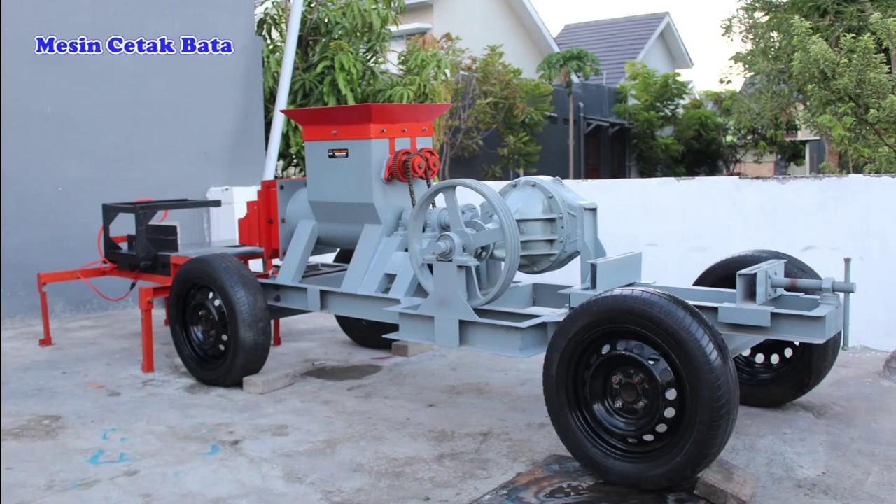 Mesin Cetak Batu Bata I Mesin Bata Merah Potong Otomatis I Mulia Mesin I mesin cetak batu bata press