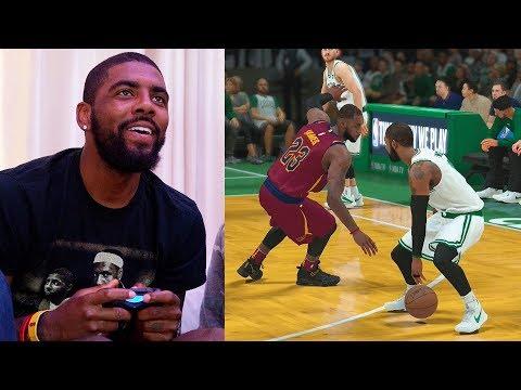 Kyrie Irving Plays NBA 2K18 & Breaks LeBron James Ankles GAMEPLAY