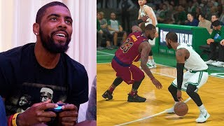 Kyrie Irving Plays NBA 2K18 & Breaks LeBron James Ankles GAMEPLAY thumbnail