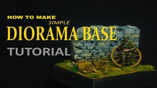 How to make a simple Diorama Base : Normandy 1944 Tutorial