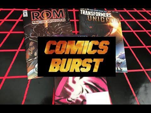 COMICS BURST!! ROM/MICRONAUTS #5, FCBD ULTRA STREET FIGHTER 2 & FCBD UNICRON!!