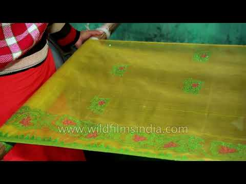 Rani Phi Stole Being Made In Imphal Manipur Youtube