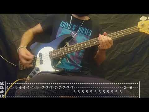 Blur - Song 2 Bass Cover (Tabs)