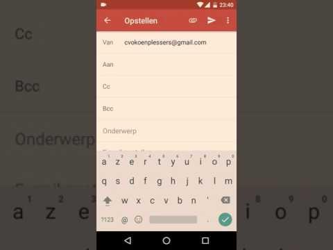 Android gmail:  aan, cc en bcc gebruiken in gmail