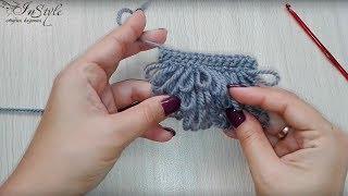 Вытянутые петли вверх. Узор мех. Вязание крючком (crochet fur stitch)