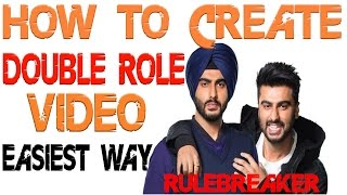 How to create double role video easily || easiest way