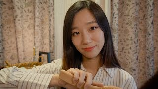 ASMR Cozy Autumn Night Relaxation🍂- whisper, hair brushing, scalp massage