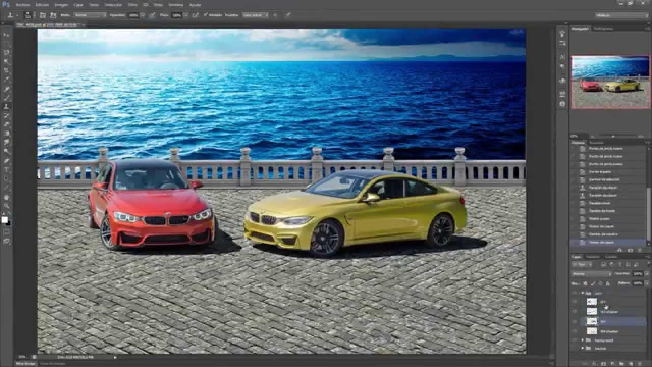 creating background to car photos - photoshop cs6 - youtube