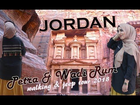 Petra & Wadi Rum - JORDAN TRAVEL DIARY VLOG 2018 (walking & jeep tour) - a World Wonder HD