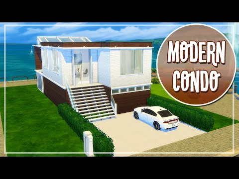 Melissa's Modern Condo | The Sims 4 CC Speed Build