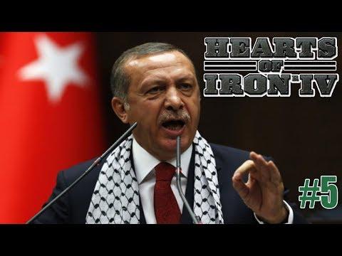 اردوغان يضم الضفة الغربية وغزة لتركيا ويحتل لبنان وقبرص | HOI4