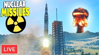 LIVE -  BUILDING NUKE MISSILE BASE | Cities: Skylines Gameplay