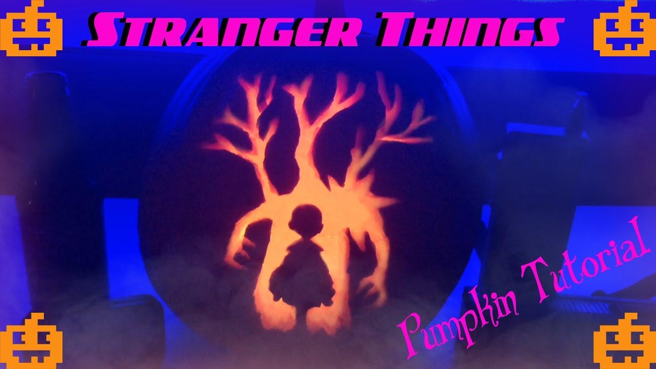 diy stranger things pumpkin carving youtube. Black Bedroom Furniture Sets. Home Design Ideas