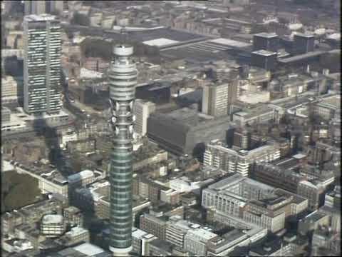 British Telecom Tower | Post office tower | London Aerials | 1980s  London