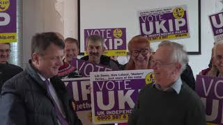 Gerard Batten assisting Neil Hamilton in the Newport West  by election