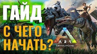 с ЧЕГО НАЧАТЬ? #ГАЙД ДЛЯ НОВИЧКОВ! Ark: Survival Evolved #1