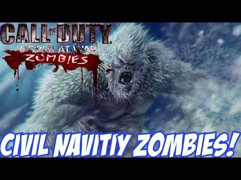 """SNOWMAN ZOMBIES!"" - Custom Zombies ""CIVIL NATIVITY"" (CoD WaW Custom Zombies)"