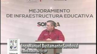 Rueda de Prensa - CECOP Mejoramiento de Infraestructura Educativa
