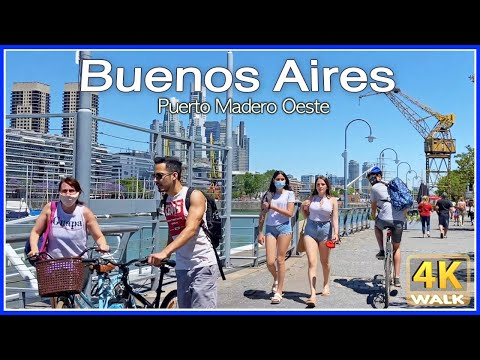【4K】WALK Buenos Aires ARGENTINA 4K video AR 2020 Travel vlog