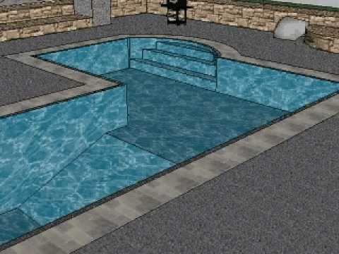 L Shaped Pool 3d Sketch Ma Youtube