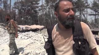 اللواء العاشر في الساحل/ اللحظات الأولى لدخول المجاهدين بعد تحرير التلال بجبل التركمان 2015/7/29