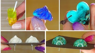7 Resin Accessories FAIRY PENDANTS MADE OUT OF AN EPOXY RESIN
