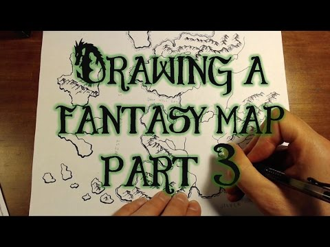 Drawing A Fantasy Map (part 3) - Rivers, Lakes, & Sea
