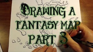 Drawing a Fantasy Map (part 3) - Rivers, Lakes, & Sea