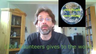1000 Volunteers Giving 1000 Words To The World