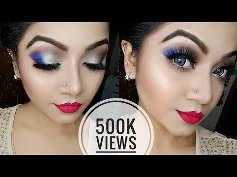Electric Blue and Gold Eye Makeup Tutorial_NYE Party Makeup Tutorial