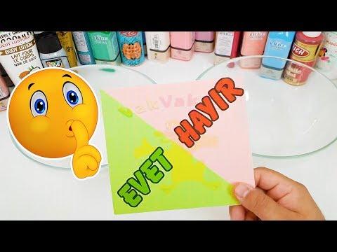 Evet Hayır Dersen Yanarsın Slime Challenge Eğlenceli Oyun Videosu