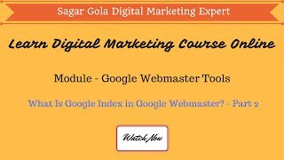 What Is Google Index in Google Webmaster? - Part 2 - Hindi