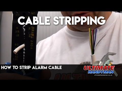How to strip alarm cable