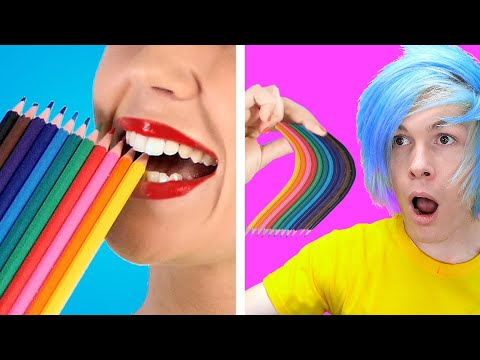 TRYING 10 Best SCHOOL HACKS! DIY School Supplies, School Crafts & Funny Situations by Crafty Panda