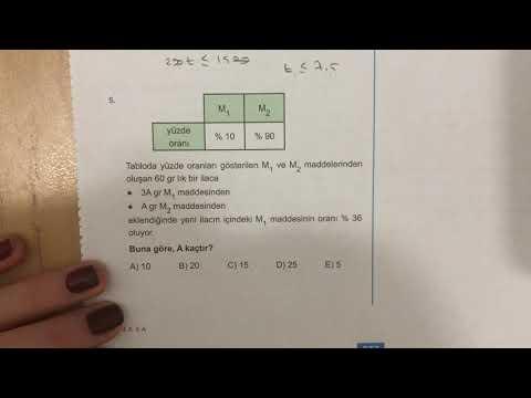 345 TYT Matematik Karışım Problemleri Ösym-1 Anlatımlı Çözümleri (2018-2019 Basım)