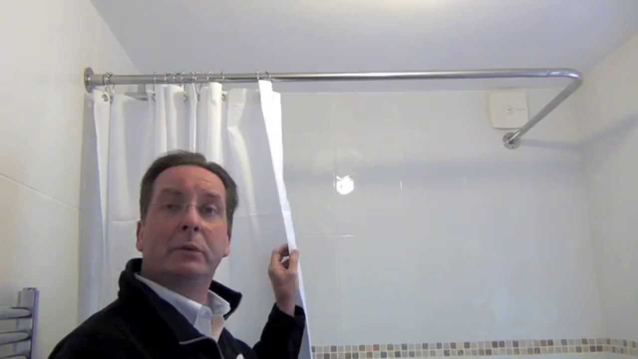 Byretech Shower Curtain Rail Installation Youtube