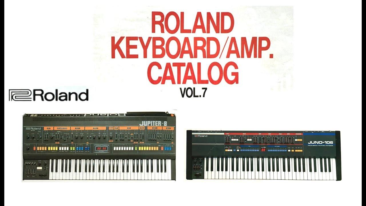 roland キーボード アンプ カタログ 1984年9月 youtube