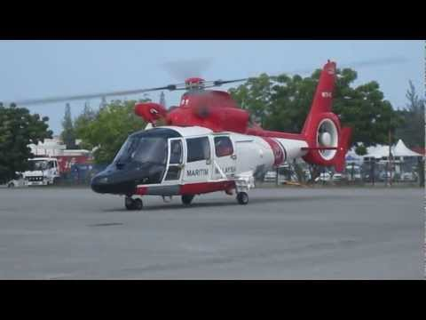 LIMA 2013 MMEA AS365 and AW139 starting up, taxiing and taking off