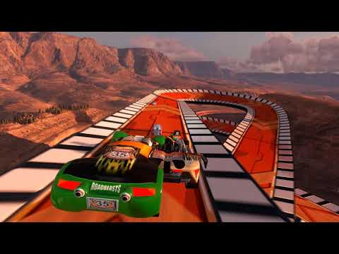 "Trackmania Highway 35 Race In ""Cliffside Realm"""