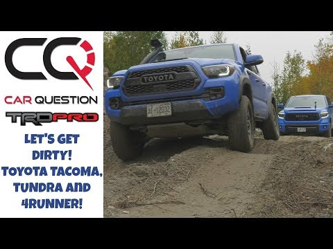 Toyota TRD PRO'S lineup off-road: Let's HIT the MUD! | Tacoma / 4Runner / Tundra