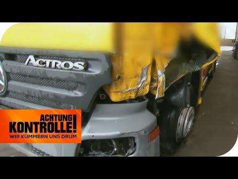 LKW-Unfall mit PKW: Der Abschleppdienst rückt an! | Achtung Kontrolle | kabel eins