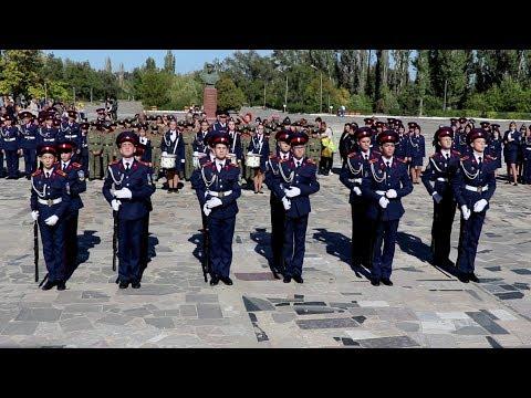 Взвод почетного караула. Казачий кадетский корпус имени К.И. Недорубова. 2018