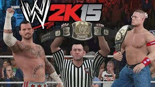 WWE 2K15 Gameplay en PS4 - John Cena Vs CM Punk Combate a muerte