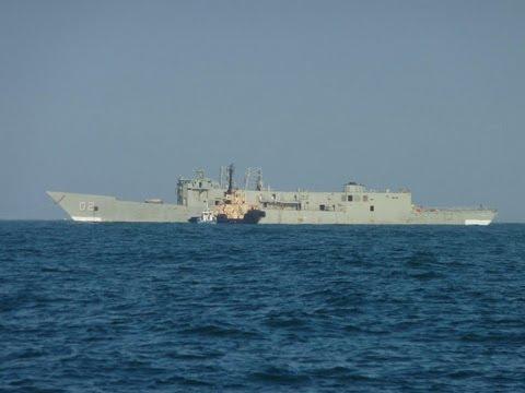 HMAS CANBERRA SINKING