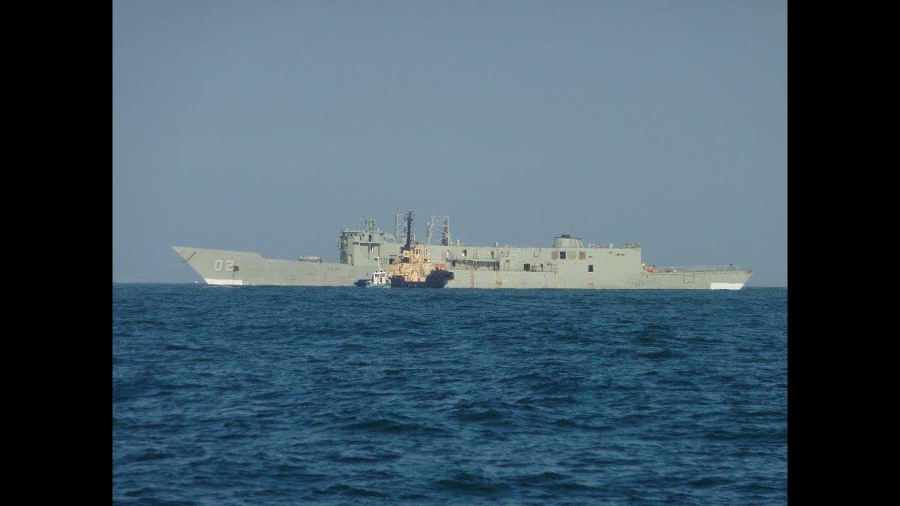 HMAS CANBERRA SINKING - YouTube