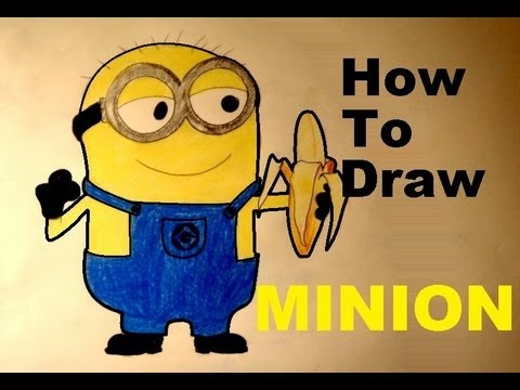 how to draw easy minion despicable me 2 minions step