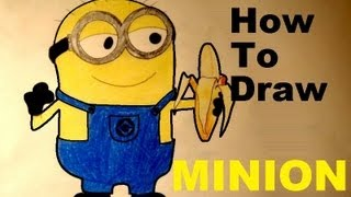 How to draw easy MINION - Despicable Me 2 / Minions step by step HD