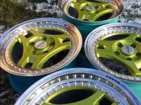 Alloy wheels refurbishment YOKOHAMA SUPER ADVAN SA3
